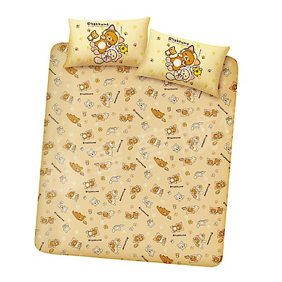 享夢城堡 雙人加大床包枕套三件式組-拉拉熊 可愛變身貓(棕)