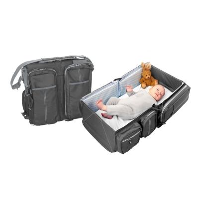 比利時Doomoo媽咪包寶寶行動眠床-個性灰