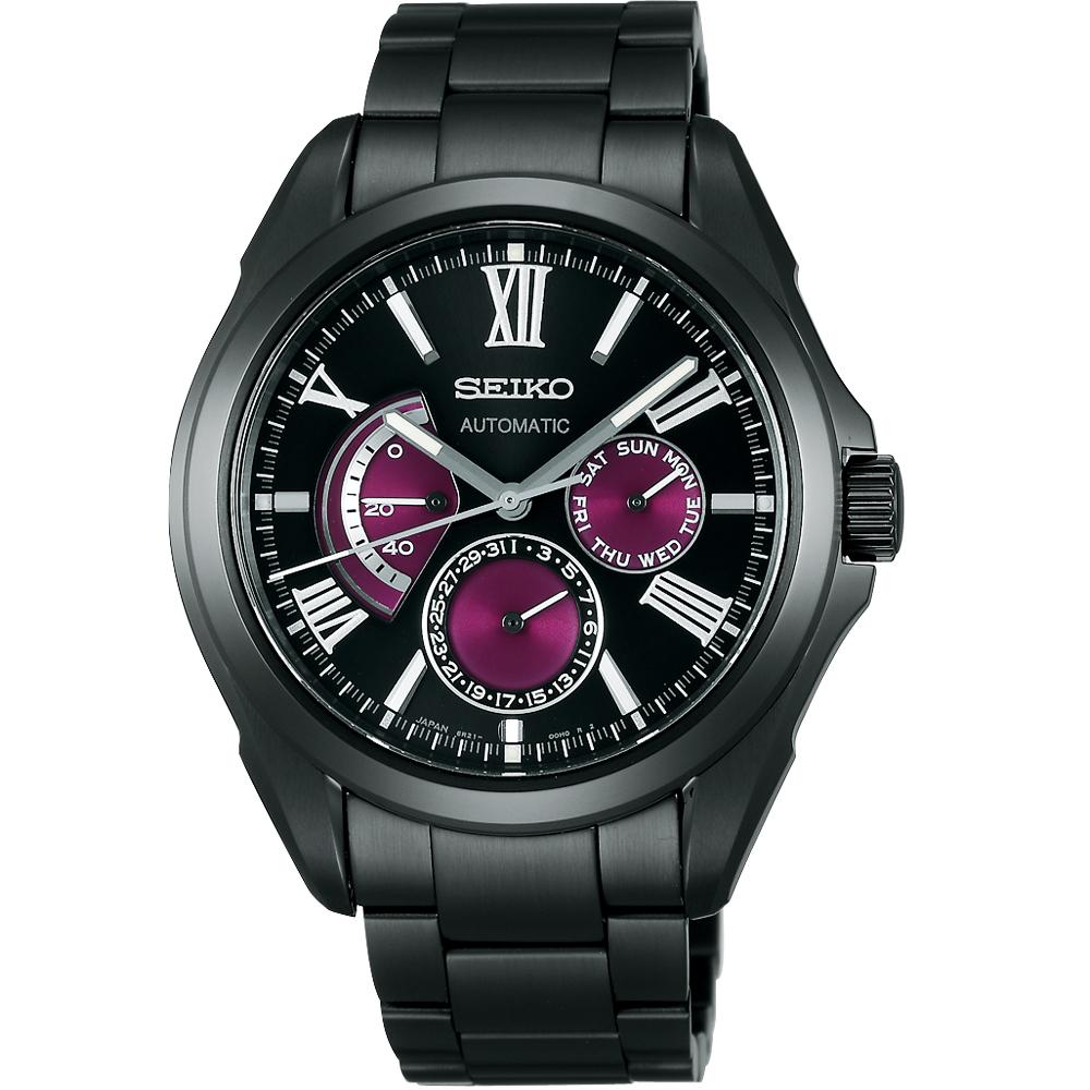 SEIKO BRIGHTZ 重裝上陣機械腕錶(SDGC005)-IP黑/40mm