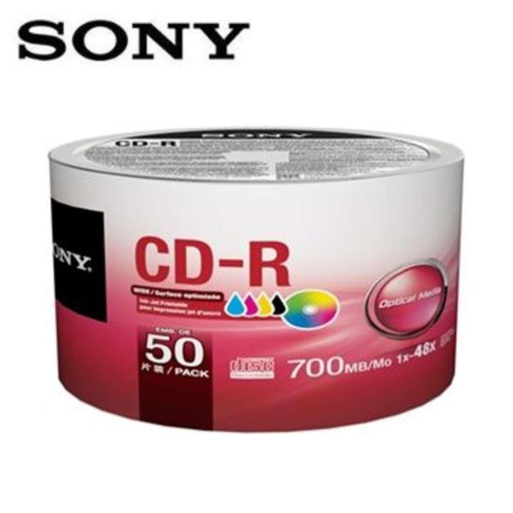 SONY CD-R 700MB 白金片 3760dpi 珍珠白滿版可噴墨光碟片X100片
