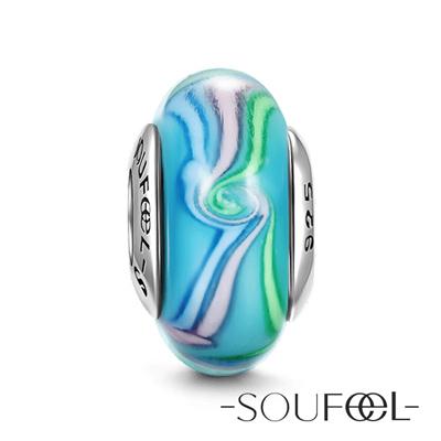 SOUFEEL索菲爾 925純銀珠飾 彩色絲帶 琉璃珠