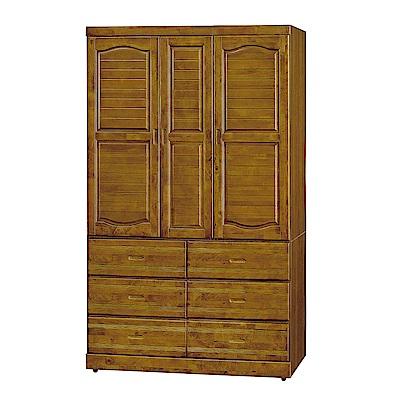H&D 樟木4*7尺六抽衣櫥 (寬119X深59X高199cm)
