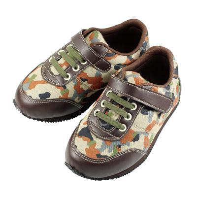 Swan天鵝童鞋-軍風迷彩休閒機能鞋0383-咖