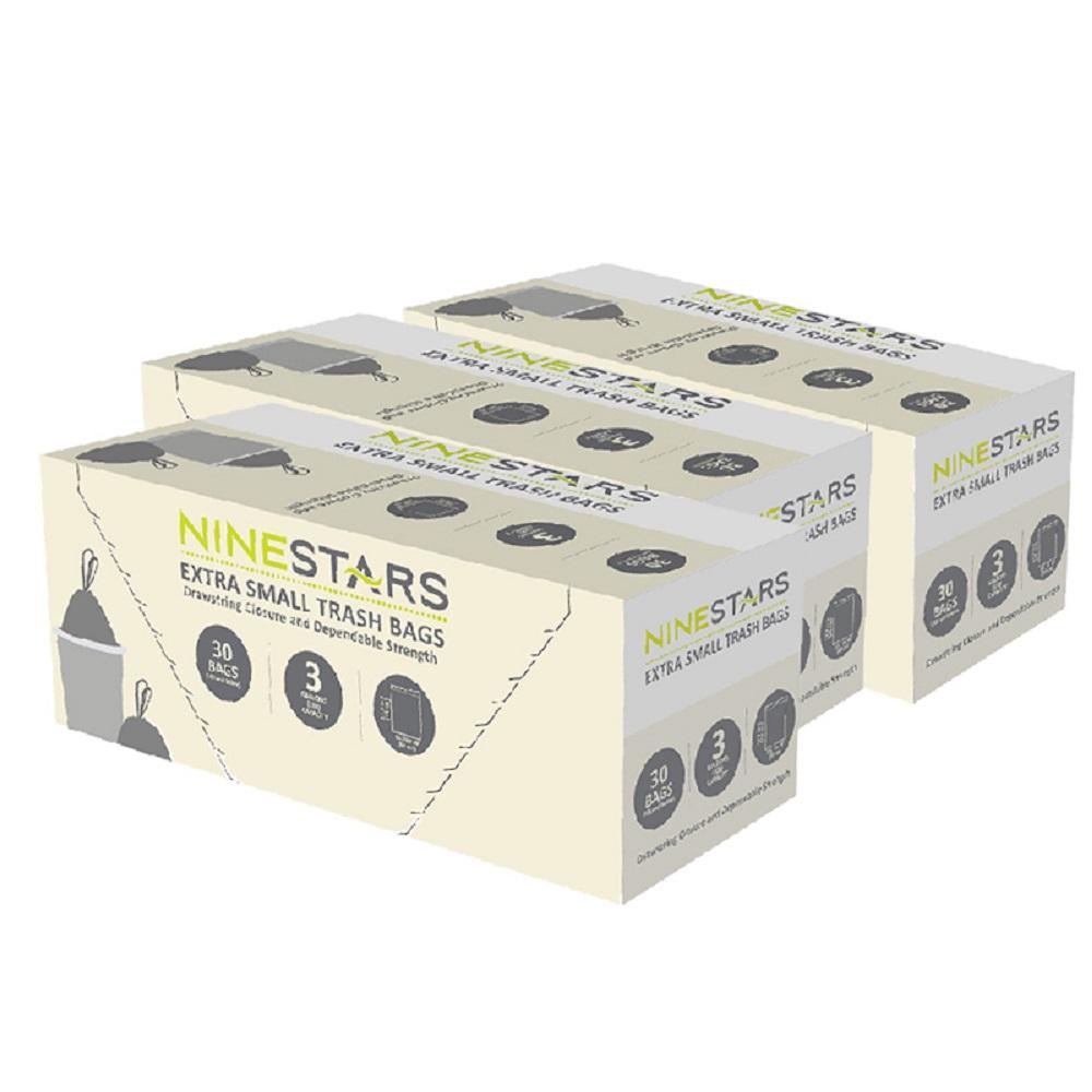 美國NINESTARS專業收納垃圾袋12L-超值三入組