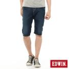 EDWIN 迦績褲JERSEYS單車短褲-男-石洗綠