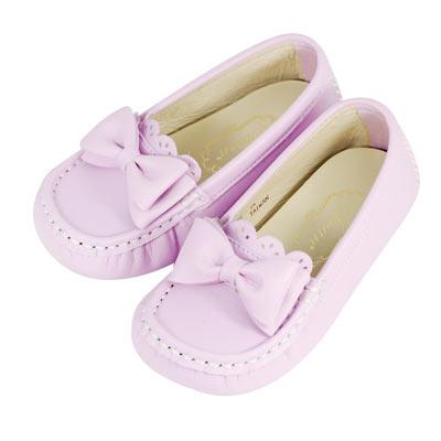 Swan天鵝童鞋-可愛蝴蝶結豆豆鞋 3766-紫