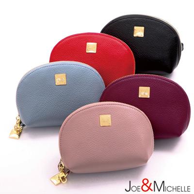 J-M-真皮莉絲貝殼手拿零錢包-櫻花粉
