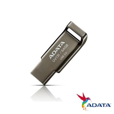 ADATA威剛 UV131 64G USB3.1賽車行動碟(鉻灰色)