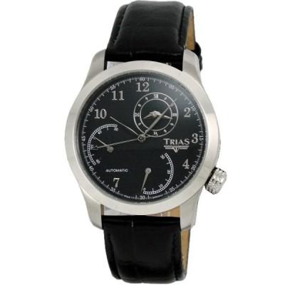 Trias 雙時區雙逆跳機械腕錶-黑/43mm