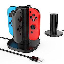 Gamewill任天堂Switch 四合一充電座 智慧安全充電 Joy-Con 手把專用