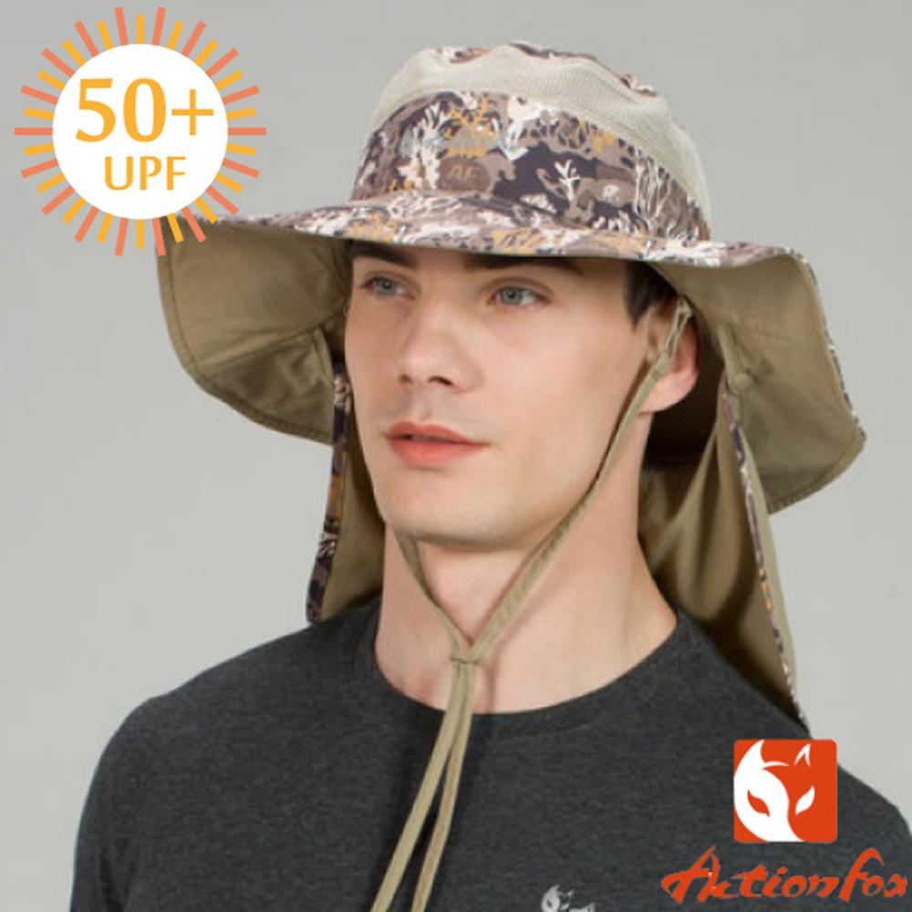 【挪威 ACTIONFOX】男新款 可收納排汗透氣遮陽帽_夾花卡其