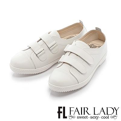 Fair-Lady-軟實力-好走休閒鞋-白