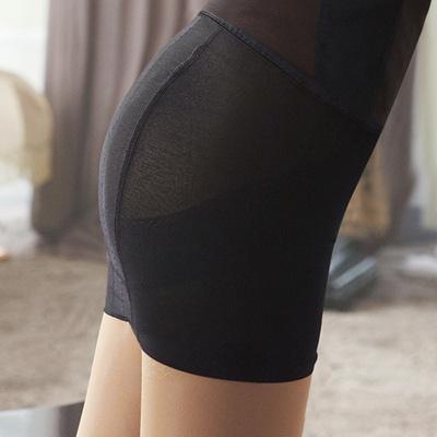 【曼黛瑪璉】羽涼級‧輕鬆塑   重機能中腰縮腹提臀塑裙(黑)