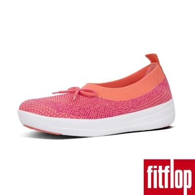 FitFlop UBERKNIT SLIP-ON BALLERINA珊瑚/紅