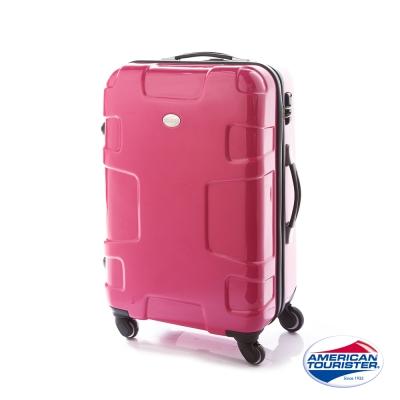 AT美國旅行者  25吋Puzzle Lite變形金剛硬殼四輪TSA行李箱(亮粉紅)