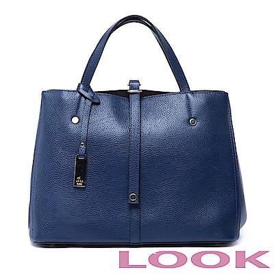 LOOK- Marjorie瑪喬麗-皮帶扣手提包-深海藍