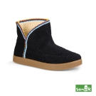 SANUK 羊毛刺繡短靴-女款(黑色)