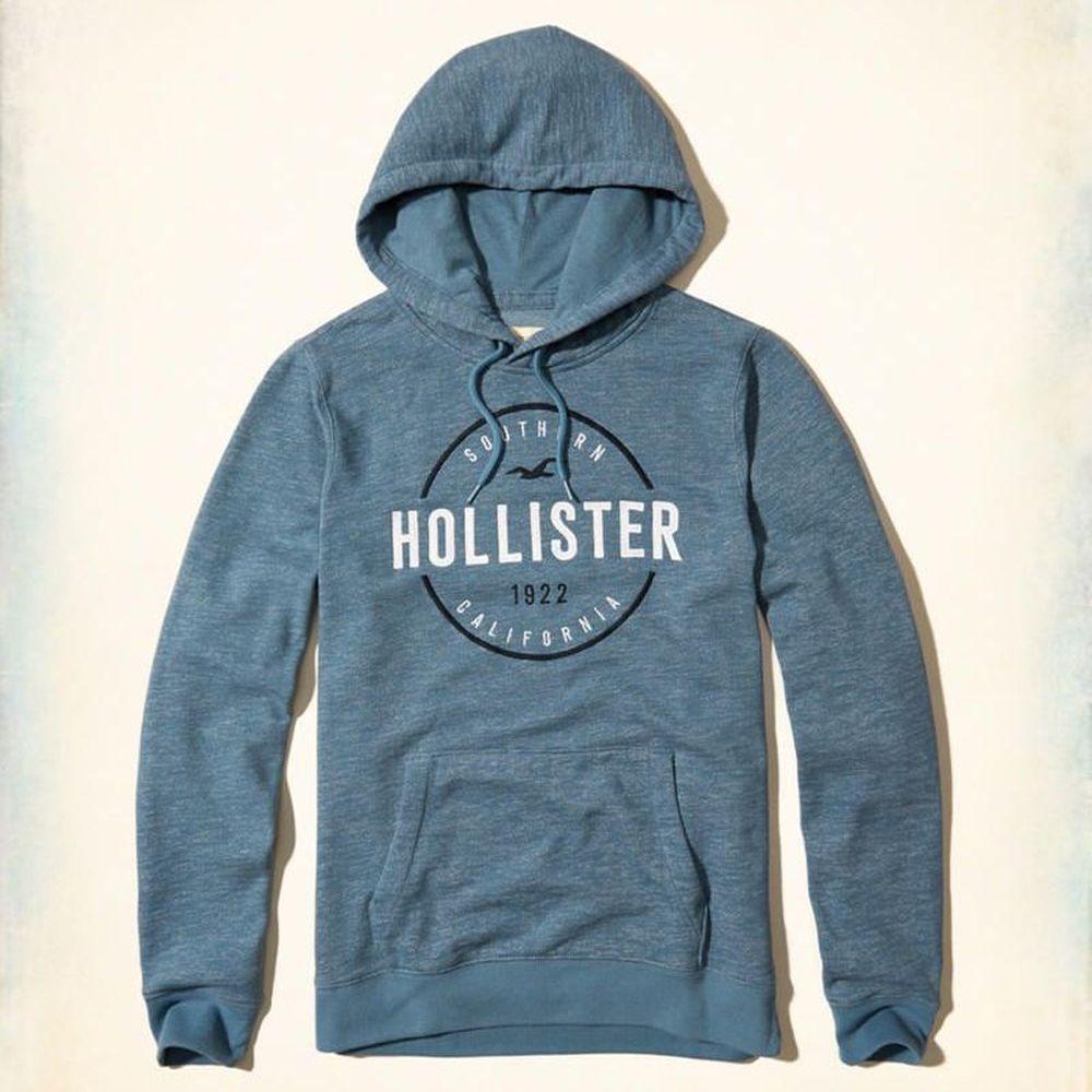 Hollister HCO 長袖 帽T 藍色 0509