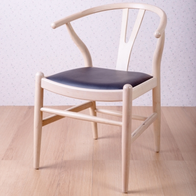 簡約風 美爾頓洗白黑餐椅-58x57x74cm(四入組)