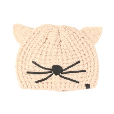 KARL LAGERFELD 時尚話題貓咪毛線帽(粉色)