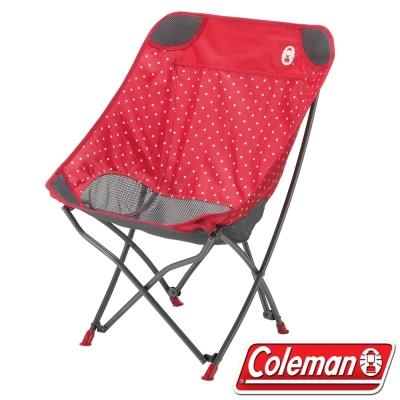 Coleman CM-31284 療癒椅/圓點紅 包覆型休閒椅/摺疊椅/野餐露營椅/大川椅