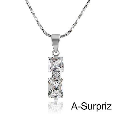 A-Surpriz 方之戀情鋯石項鍊