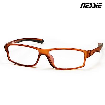 Nessie尼斯眼鏡 濾藍光眼鏡 側遮罩 流線茶