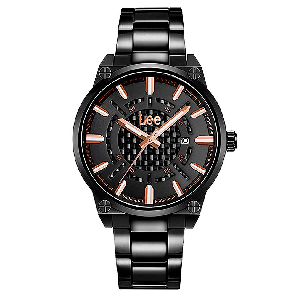 Lee  尖端舞台時尚腕錶-LEF-M63DBDB-1R/42mm