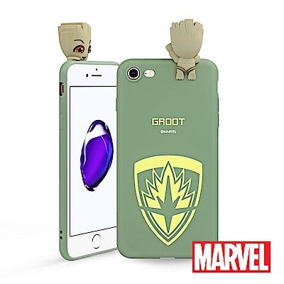 MARVEL iPhone 7/8 復仇者聯盟星際異攻隊公仔矽膠手機殼 - 格魯...