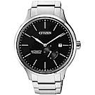 CITIZEN星辰 爵士鈦金屬機械錶-黑x銀/42mm