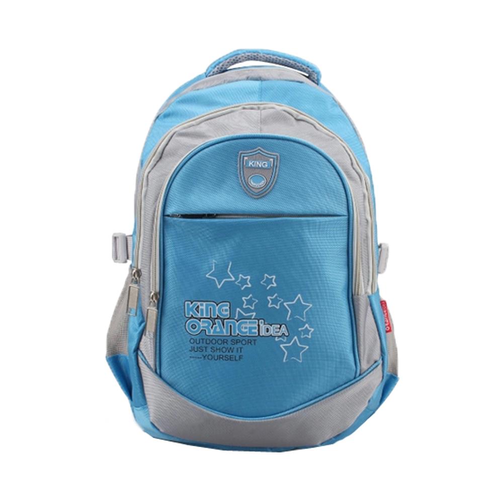 DF 童趣館 - 陽光寶貝戶外休閒多收納後背包書包-天藍