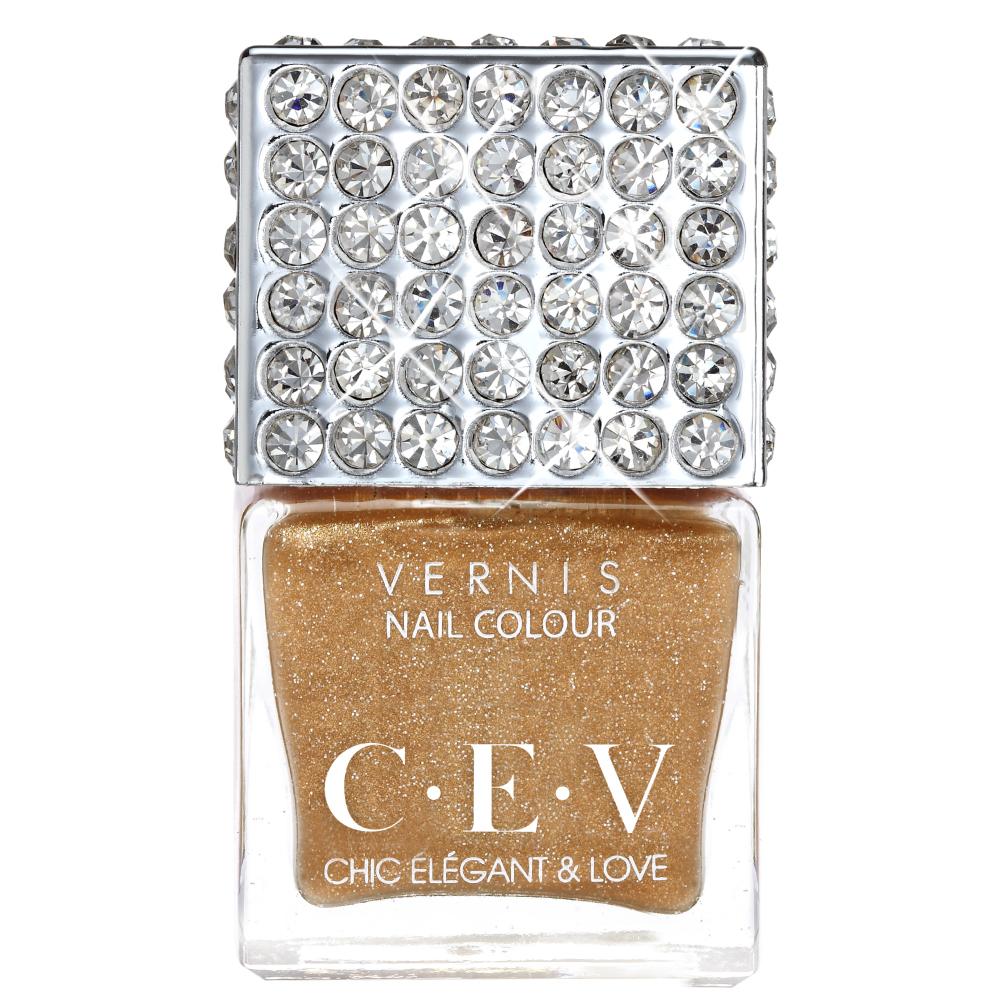 CEV超釉光極緻指彩- LC01 金粉亮甲油 上層油 15mL