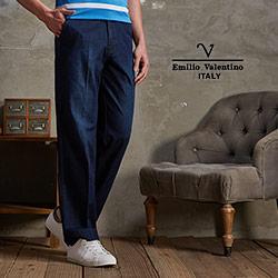 Emilio Valentino-范倫鐵諾彈性牛仔長褲_藍色(30-6A8565)