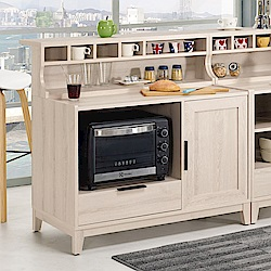 Bernice-諾文3.3尺中島型吧台桌/餐櫃(分兩色)-100x74x100cm