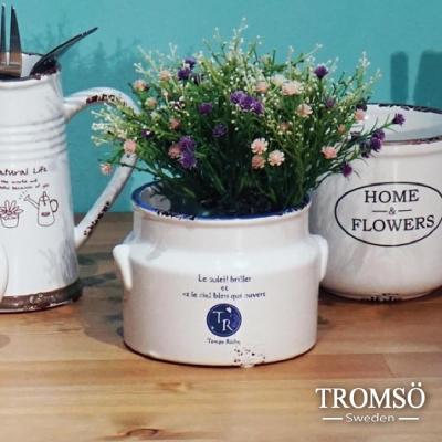 TROMSO-南法鄉村陶瓷收納罐-水果陶罐藍