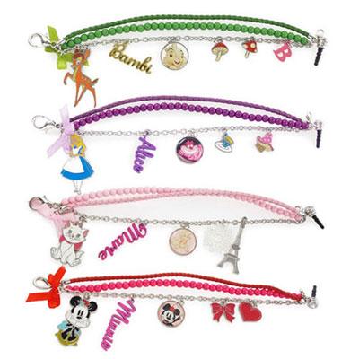 Disney 時尚造型五金珠鍊防塵塞吊飾