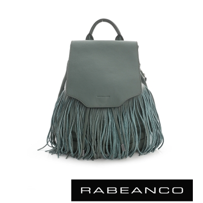 RABEANCO 經典流蘇設計束口後背包 - 綠