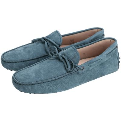 TOD'S Gommino 麂皮經典豆豆休閒鞋(男鞋/藍綠色)