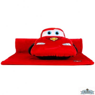 Zoobies 迪士尼Disney 閃電麥坤款 玩偶抱毯/嬰兒毯/毛毯 彌月禮盒