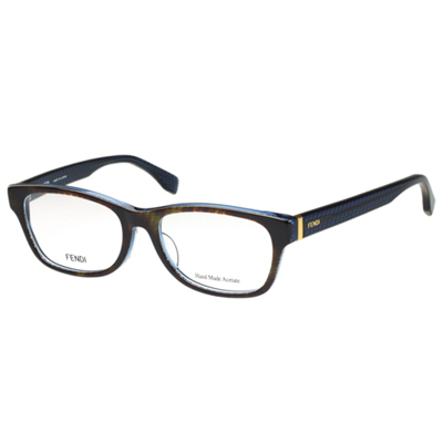 FENDI 時尚光學眼鏡 (藍+咖啡色)FF1001J