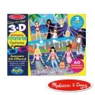 美國瑪莉莎 Melissa & Doug 靜電貼紙收藏簿 - 3D 時尚穿搭