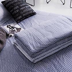 OLIVIA  蘭斯洛 鐵灰  5尺X6尺 100%精梳純棉夏日涼被