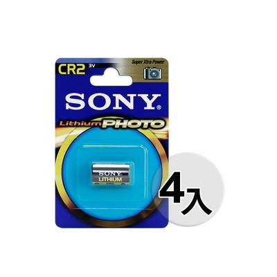 SONY CR2/CR2A 3V一次性鋰電池 拍立得Mini 25/50/90適用(4入)