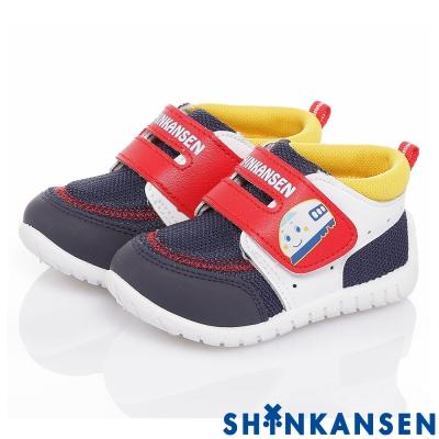 ShinKanSen新幹線 透氣抗菌防臭減壓抗菌休閒童鞋-藍