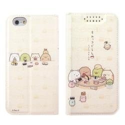 角落小夥伴/角落生物iPhone 6/6S(4.7吋)可愛彩繪皮套-吃壽司