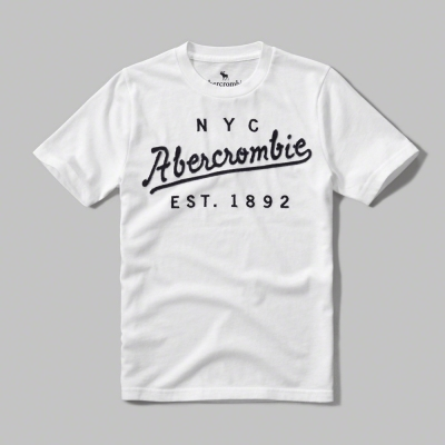 AF a&f Abercrombie & Fitch 短袖 小孩T 白色 019