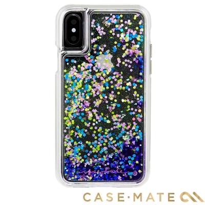 美國 Case-Mate iPhone X Waterfall 亮粉瀑布保護殼-螢光紫