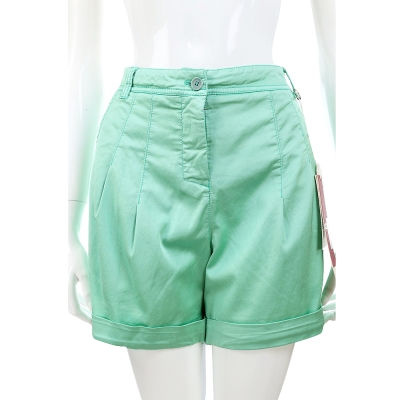 I'm Isola Marras 薄荷綠抓褶設計混紡棉料反摺短褲 @ Y!購物