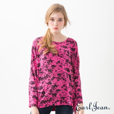 Earl Jean 流蘇造型T恤-桃紅-女