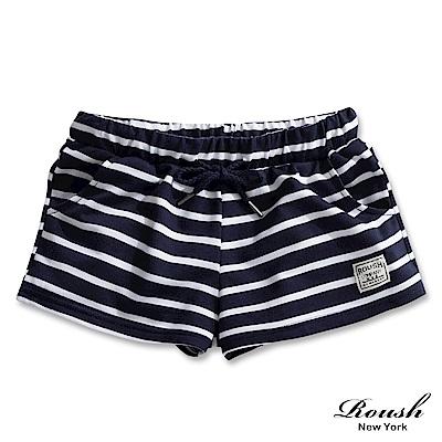 Roush 女生美式甜美橫紋短棉褲(3色)